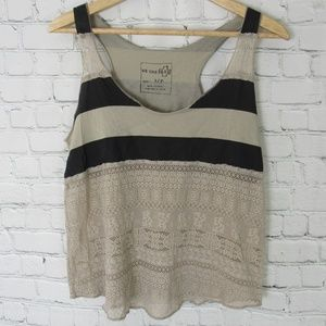 Free People Tank Top Womens Small S Black